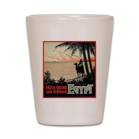 San Stefano Hotel Egypt Shot Glass