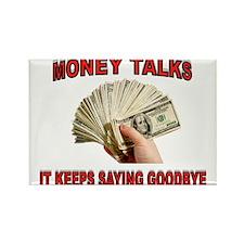 MONEY TALKS Rectangle Magnet