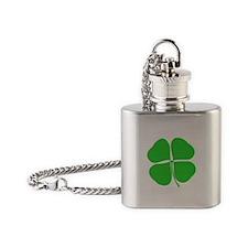 Four Leaf Clover Flask Necklace