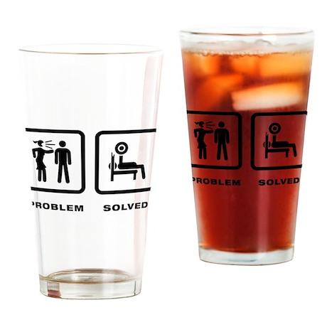 Powerlifting Drinking Glass