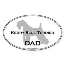 Kerry Blue DAD Oval Decal