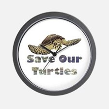 save-our-turtles.png Wall Clock