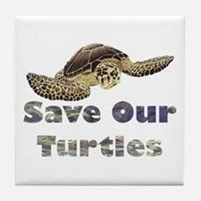save-our-turtles.png Tile Coaster