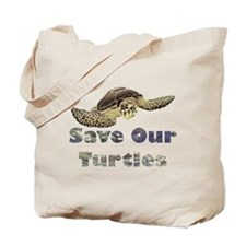 save-our-turtles.png Tote Bag