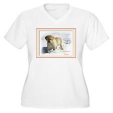 Yellow Lab Puppy Christmas Plus Size T-Shirt