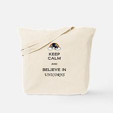Believe in Unicorns Tote Bag