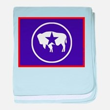 Flag of Wyoming Independent Nation baby blanket