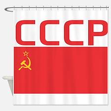 CCCP Flag Shower Curtain