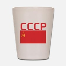 CCCP Flag Shot Glass