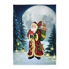 Santa Claus In The Forest 5'x7'Area Rug