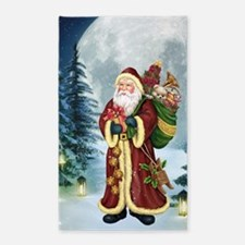 Santa Claus In The Forest 3'x5' Area Rug
