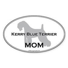 Kerry Blue MOM Oval Decal