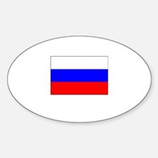Russia Flag Picture Oval Decal