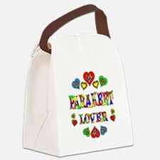 Parakeet Lover Canvas Lunch Bag