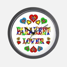 Parakeet Lover Wall Clock