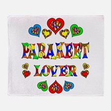 Parakeet Lover Throw Blanket