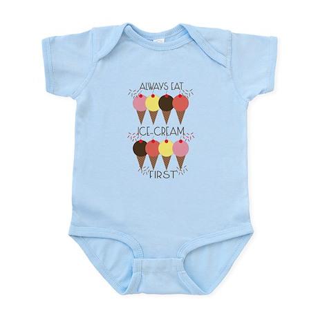 Ice Cream First Infant Bodysuit