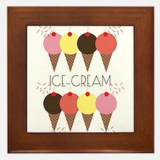 Ice Cream First Framed Tile
