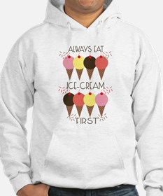 Ice Cream First Hoodie
