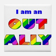 Out Ally Tile Coaster