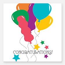"Congratulations Square Car Magnet 3"" x 3"""
