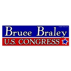 Bruce Braley for Congress bumper sticker