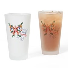 Social Butterfly Drinking Glass