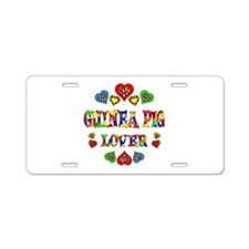 Guinea Pig Lover Aluminum License Plate