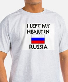 I Left My Heart In Russia Ash Grey T-Shirt