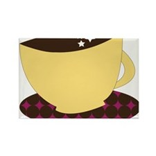 Coffee Cup Rectangle Magnet