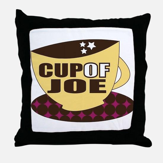 Cup Of Joe Throw Pillow