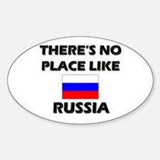 There Is No Place Like Russia Oval Decal