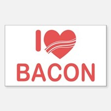 I Heart Bacon Sticker (Rectangle)
