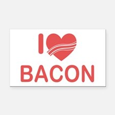 I Heart Bacon Rectangle Car Magnet
