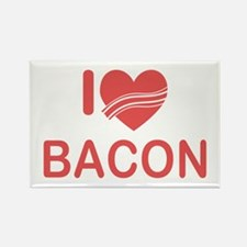 I Heart Bacon Rectangle Magnet