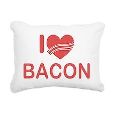 I Heart Bacon Rectangular Canvas Pillow