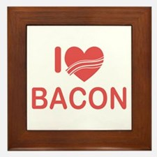 I Heart Bacon Framed Tile