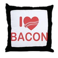 I Heart Bacon Throw Pillow