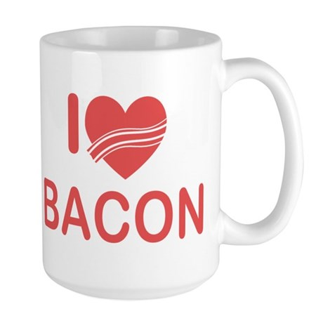 I Heart Bacon Large Mug