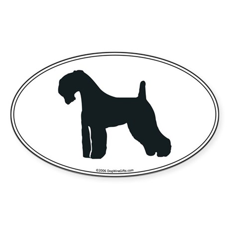 Kerry Blue Silhouette Oval Sticker