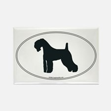 Kerry Blue Silhouette Rectangle Magnet