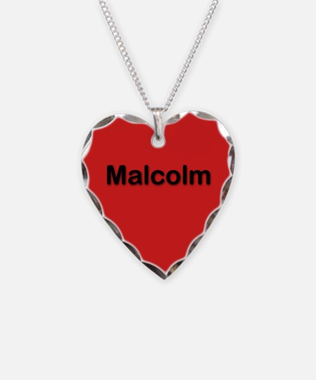 Malcolm Red Heart Necklace Charm