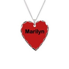 Marilyn Red Heart Necklace Charm