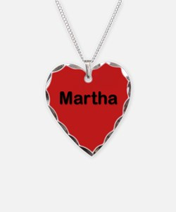 Martha Red Heart Necklace Charm