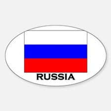 Russia Flag Merchandise Oval Decal
