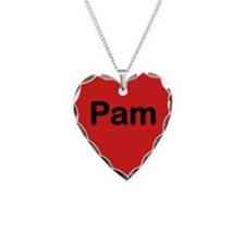 Pam Red Heart Necklace Charm