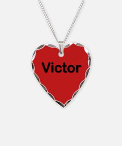 Victor Red Heart Necklace Charm