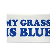 MY GRASS IS BLUE Rectangle Magnet (10 pack)