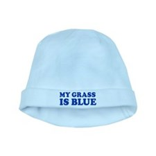 MY GRASS IS BLUE baby hat