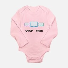 Personalized Books Reading Long Sleeve Infant Body